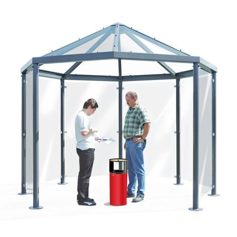 Raucherpavillon mit Spitzdach, ohne Seitenwände, 8-eckig