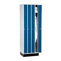 Raumsparschrank mit 4 Abteilen + Zylinderschloss