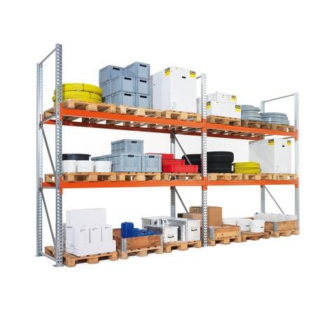 Rayonnage à palettes META MULTIPAL, travée auxiliaire, charge par travée jusqu'à 7200kg