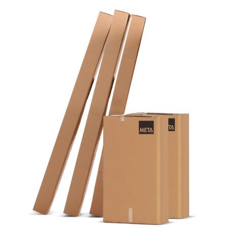 Rayonnage à tablettes META CLIP S3, travée de base, système d'emboîtement, charge par tablette 230 kg, galvanisé