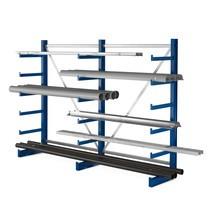 Rayonnage Cantilever META, unilatéral, capacité de charge 200 kg
