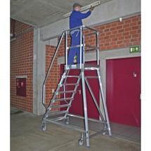 Rebrík s plošinou KRAUSE®, pojazdný