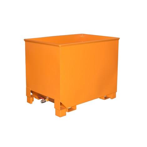 Recipiente de empilhamento de cavacos para guindastes de rota, pintado, volume 0,8 m³