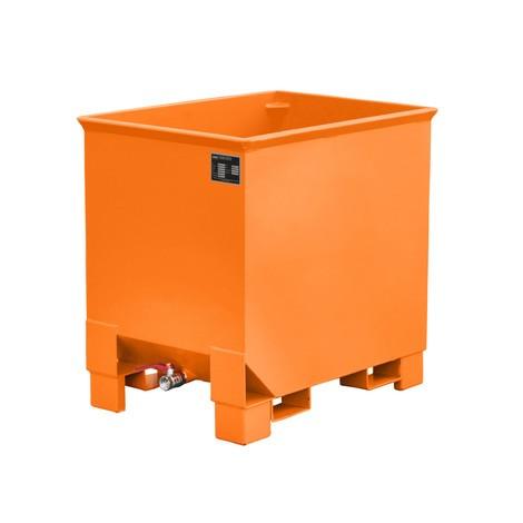 Recipiente de empilhamento de cavacos para guindastes, pintado, volume 0,3 m³