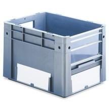 Recipiente de empilhamento Euro para cargas pesadas com abertura visível