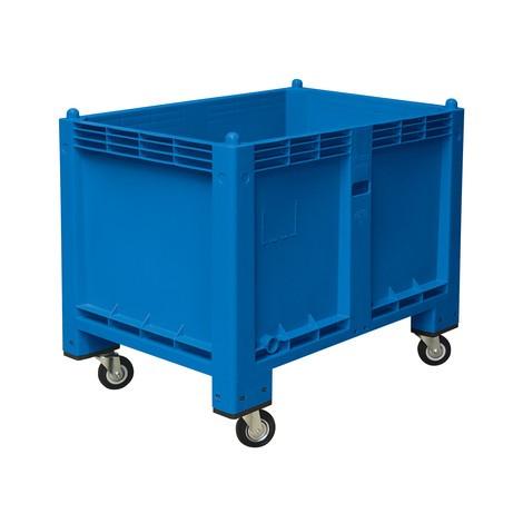Recipiente grande em polipropileno, 550 litros, com rodas