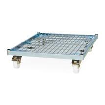 Recipiente rolante, 4 lados, painel posterior semiarticulado, suporte em aço com rodízios