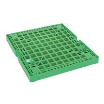 Recipiente rolante, de 4 lados, painel frontal semiarticulado, suporte de plástico, AxLxP 1650 x 724 x 815 mm