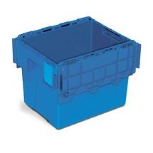Recipientes empilháveis reutilizáveis em polietileno com suporte para etiqueta