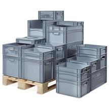 recipientes EURO empilháveis BASIC, paredes e fundo perfurado