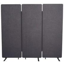 RECLAIM Akustiktrennwand, 3-teiliger Raumteiler