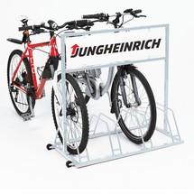 Reclamebord met digitale print voor fietsrek met reclame