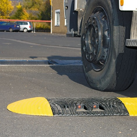 Recycled speed bump