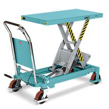 Ręczne wózki nożycowe Ameise® z podnoszonym blatem roboczym. Udźwig do 750 kg.