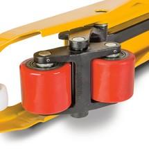 Ręczne wózki paletowe Ameise Power Edition. Udźwig od 2600 do 3000 kg. Dł. wideł 1150 mm.