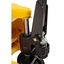 Ręczne wózki paletowe Ameise z funkcją szybkiego unoszenia. Udźwig 2000 kg. Dł. wideł 1150 mm.