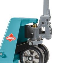 Ręczne wózki paletowe Ameise® z funkcją szybkiego unoszenia. Udźwig 2500 kg. Dł. wideł 1150 mm.