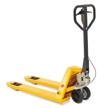 Ręczne wózki paletowe Ameise® z hamulcem bębnowym. Udźwig 2500 kg. Długość wideł 1150 mm.