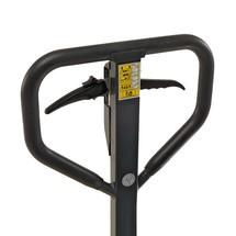 Ręczne wózki paletowe Ameise z hamulcem bębnowym. Udźwig 2500 kg. Długość wideł 1150 mm.
