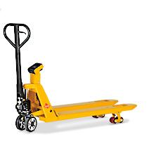 Ręczne wózki paletowe Ameise® z wagą. Podziałka 1 kg. Udźwig 2000 kg.