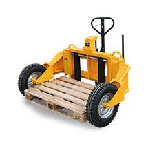 Ręczno-hydrauliczny wózek terenowy Ameise®. Udźwig 1250 kg.