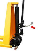 Ręczny wózek nożycowy Ameise® z dyszlem Premium. Wys. podn. 800 mm. Udźwig 1000 kg.
