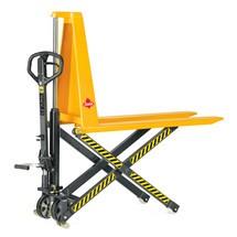 Ręczny wózek nożycowy Ameise z dyszlem Premium. Wys. podn. 800 mm. Udźwig 1000 kg.