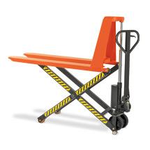 Ręczny wózek nożycowy BASIC. Wys. podn. 800 mm. Udźwig 1000 kg.