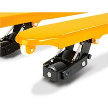 Ręczny wózek paletowy Ameise® czterokierunkowy, typ V-BV. Udźwig 2500 kg / 1500 kg.