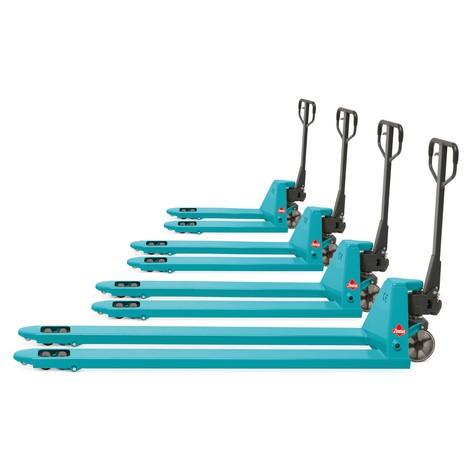 Ręczny wózek paletowy Ameise® PTM 2.0/3.5 z długimi widłami