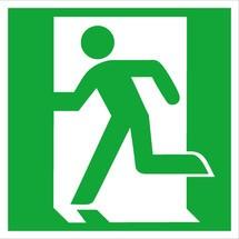 Reddingssignalering vluchtweg/nooduitgang links (zonder pijl)