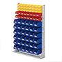 Regal mit Sichtlagerkästen RasterPlan aus Polyethylen, einseitig