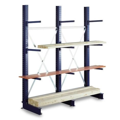 Regał wspornikowy META moduł dostawny, jednostronny, nośność modułu do 430 kg