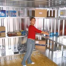 Regalboden für Regalsysteme in Schnellbauhallen