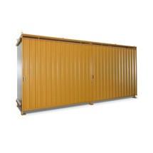 Regalcontainer für 12x EP / 8x CP3, 2 Ebenen, 2 Schiebetüren