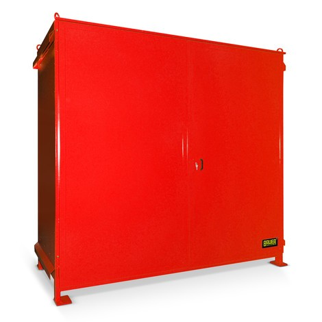 Regalcontainer für 6x EP / 4x CP3, 2 Ebenen, 2 Flügeltüren