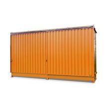 Regalcontainer für 8x KTC/IBC, 2 Ebenen, 2 Schiebetüren