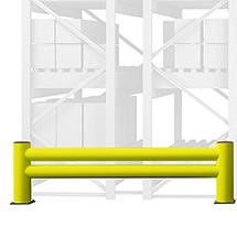 Regalendschutz aus Kunststoff, Doppelplanke, Länge wahlweise 1100 oder 2400 mm