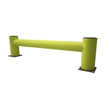 Regalendschutz aus Kunststoff, Einzelplanke, Länge wahlweise 1100 oder 2400 mm