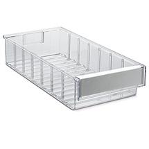Regalkasten aus Polystyrol, transparent