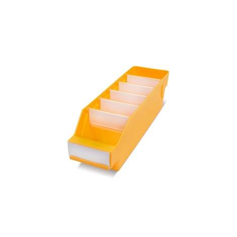 Regálové boxy s průhledným otvorem