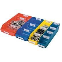 Regálové boxy spriehľadným otvorom