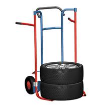 Reifenkarre aus Stahlrohr für 5 Reifen. Tragkraft 240kg