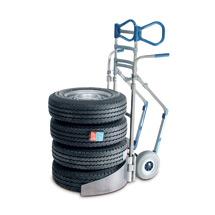 Reifenkarre EXPRESSO aus Aluminium für 4 Reifen. Tragkraft 200kg