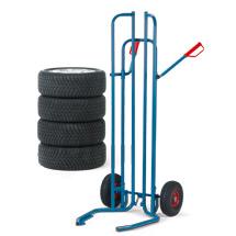 Reifenkarre fetra® aus Stahlrohr für 8 Reifen. Tragkraft 200kg