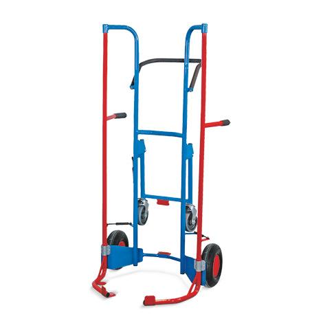 Reifenkarre VARIOfit® mit Stützrädern. Aus Stahlrohr. Für 8 Reifen