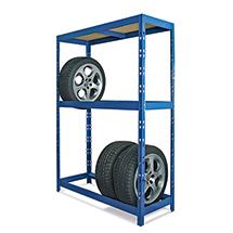 Reifenregal BASIC für bis zu 8 Reifen. Fachlast 150 kg