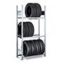 Reifenregale für Reifen mit Ø 550 bis 650 mm. Grundfeld. Fachlast bis 150 kg