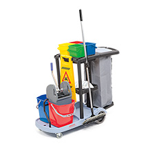 Reinigungswagen Komplett-Set, für professionelle und systematische Reinigung