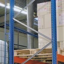 Rejilla de panel trasero para estantería para palets SCHULTE, tipo S
